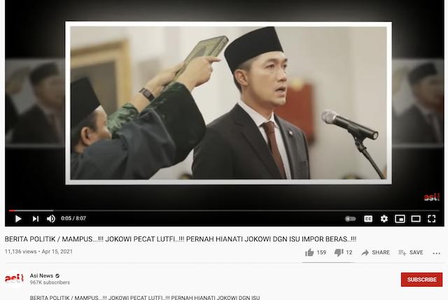 [Cek Fakta] Jokowi Pecat Menteri Perdagangan M Luthfi? Ini Faktanya