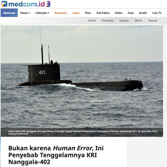 [Cek Fakta] Prabowo Bongkar Dalang di Balik Hilangnya Kapal Nanggala 402? Ini Faktanya