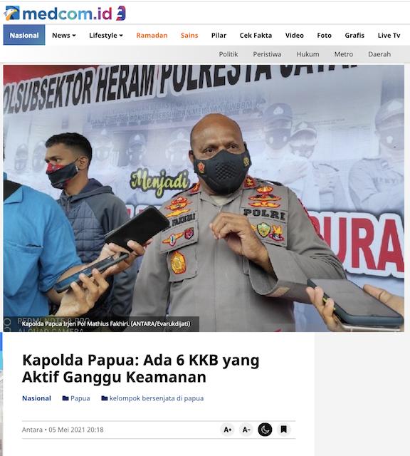 [Cek Fakta] Negara Anggap Semua Orang Asli Papua OPM, Itu Hoaks