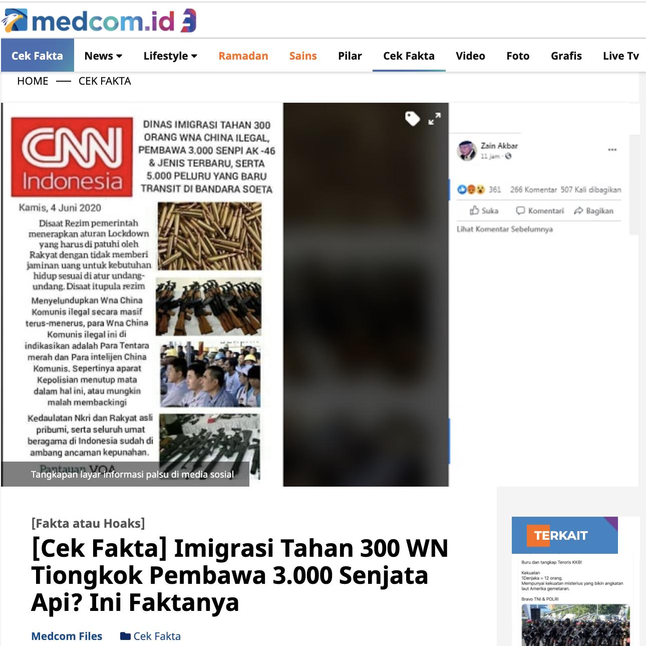 [Cek Fakta] Seorang Anggota Polisi Jual Senjata <i>Made</i> <i>in</i> <i>China</i> ke Teroris KKB Papua? Ini Cek Faktanya