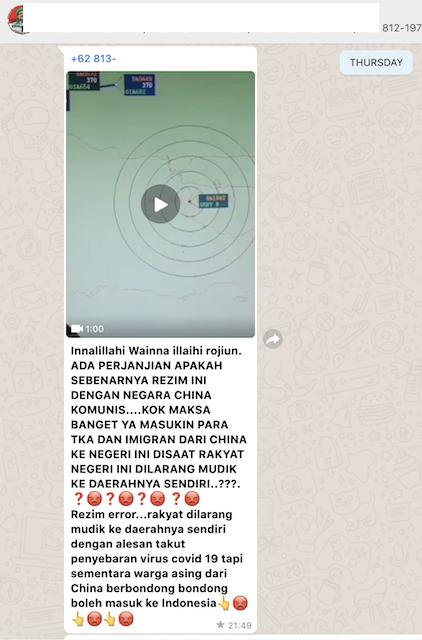 [Cek Fakta] Video Sejumlah Pesawat Pembawa Warga Asing Masuk Indonesia Tertangkap Radar? Ini Faktanya