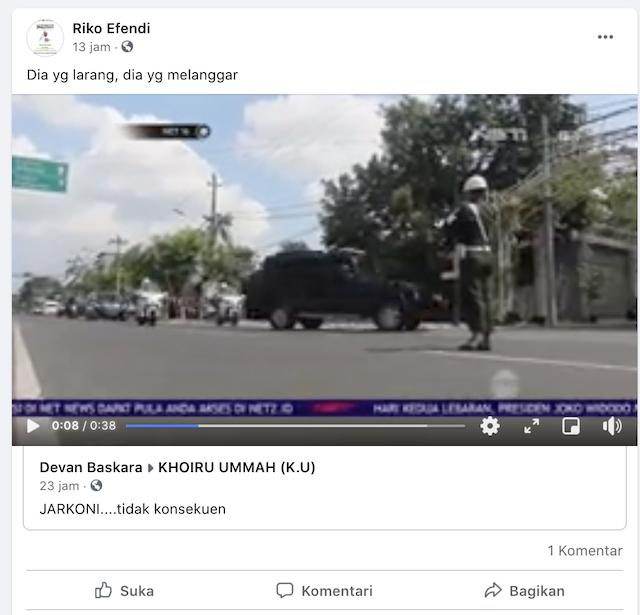 [Cek Fakta] Video Jokowi Langgar Aturan Larangan Mudik? Ini Faktanya