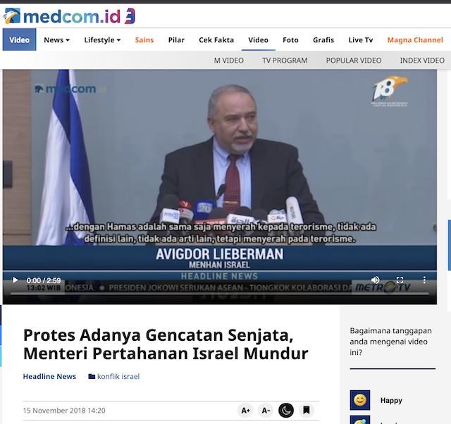[Cek Fakta] Menteri Pertahanan Israel Mengundurkan Diri karena Kalah Perang Melawan Palestina? Ini Faktanya