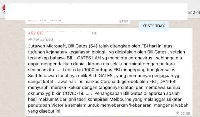 [Cek Fakta] FBI Tangkap Bill Gates karena Ciptakan Virus Korona? Ini Faktanya