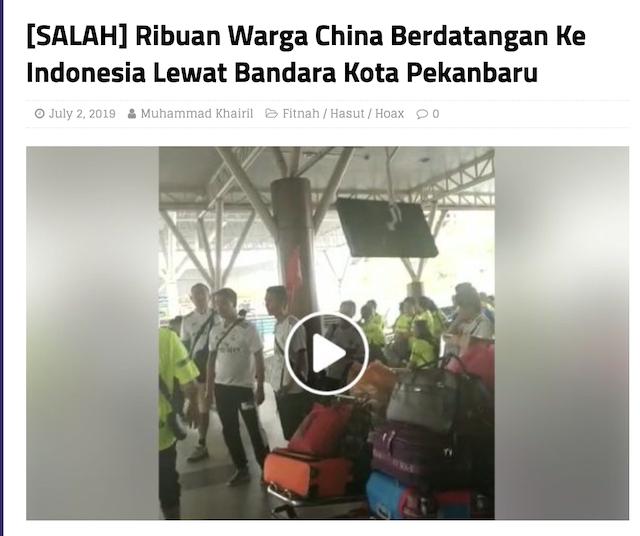 [Cek Fakta] Video Penampakan Wanita Tiongkok Serbu Bandara Soekarno-Hatta? Ini Faktanya