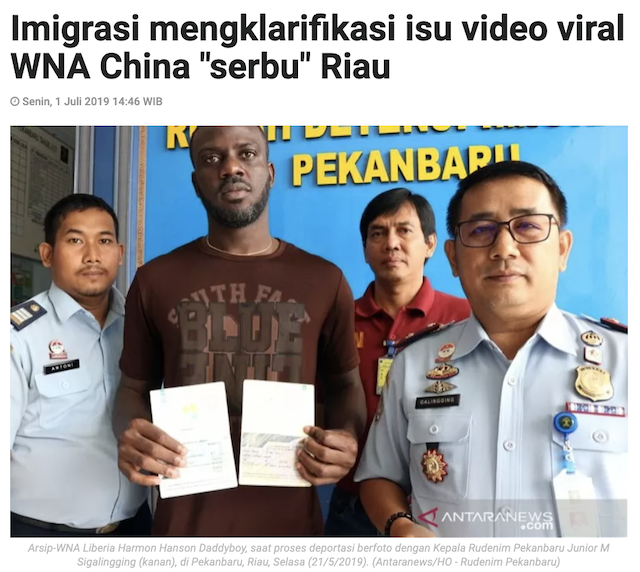 [Cek Fakta] Video Riau Diserbu WNA Tiongkok? Ini Faktanya