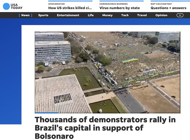 [Cek Fakta] Beredar Video Jutaan Orang Demo Menolak Wajib Vaksin di Brasil? Ini Faktanya