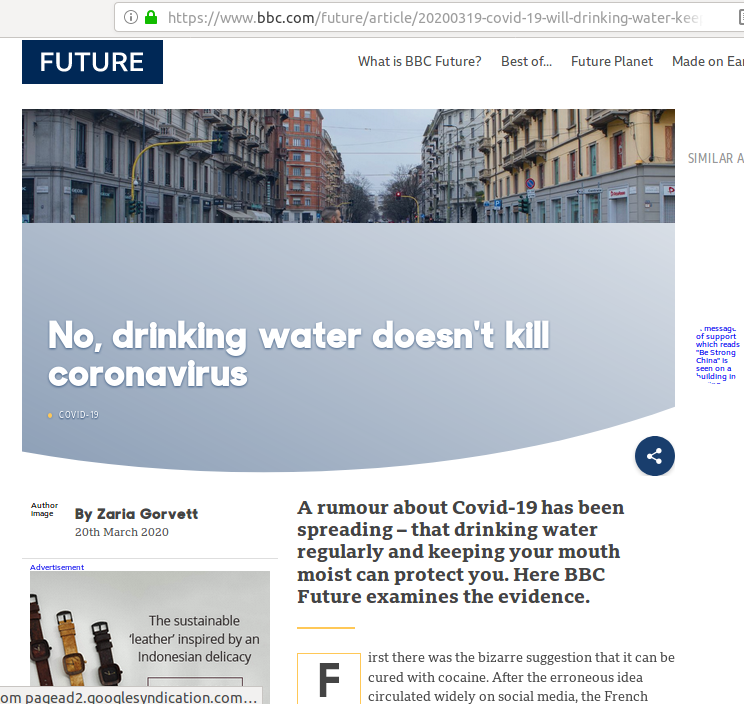 [Cek Fakta] Minum Air Panas Dapat Membunuh Virus Korona? Ini Faktanya