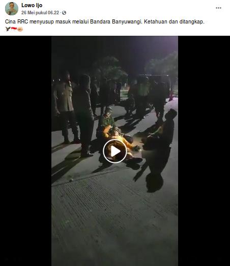 [Cek Fakta] Video TKA Tiongkok Tertangkap Masuk Bandara Banyuwangi? Ini Faktanya