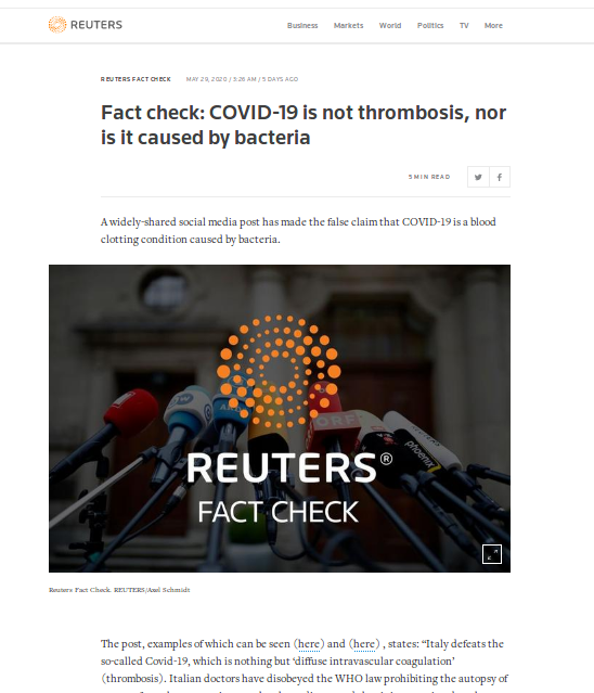 [Cek Fakta] Italia Buktikan Covid-19 bukan Virus Melainkan Bakteri? Simak Faktanya