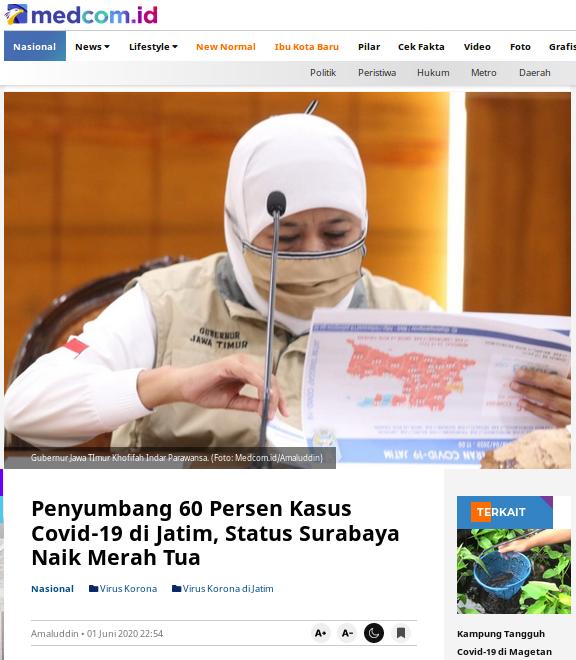 [Cek Fakta] Surabaya Masuk Zona Hitam? Cek Faktanya