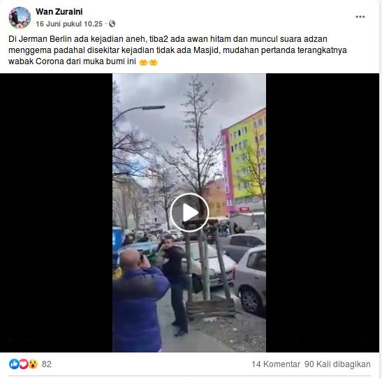 [Cek Fakta] Tak Ada Masjid, Suara Azan Tiba-Tiba Terdengar di Berlin Jerman? Cek Faktanya