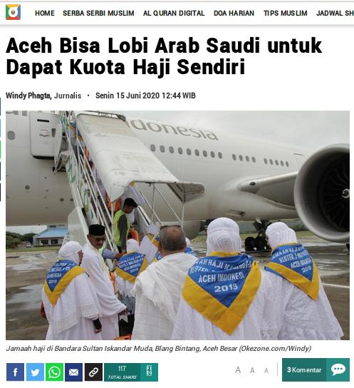 [Cek Fakta] Berbeda, Jemaah Haji Asal Aceh Tetap Berangkat Haji Tahun Ini? Cek Faktanya