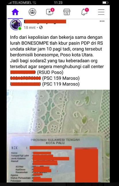 [Cek Fakta] Pasien Korona Kabur dari Rumah Sakit di Poso? Ini Faktanya