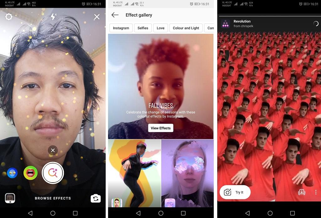 Cari dan Simpan Filter AR Menarik di Instagram, Caranya?
