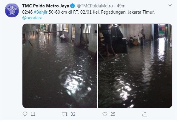 Permukiman Sebagian Warga Jakarta Dikepung Banjir