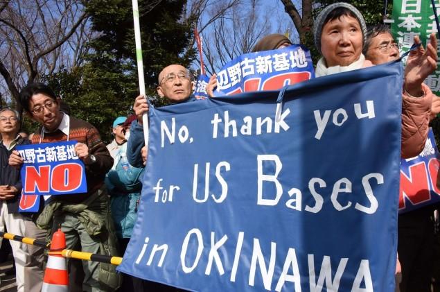 Ribuan Warga Okinawa Usir Militer AS
