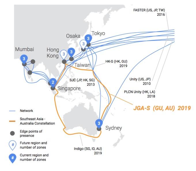 Google Gelar Kabel Bawah Laut Jepang-Guam-Australia