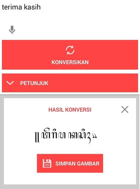 Aplikasi Untuk Menulis Dan Membaca Aksara Jawa