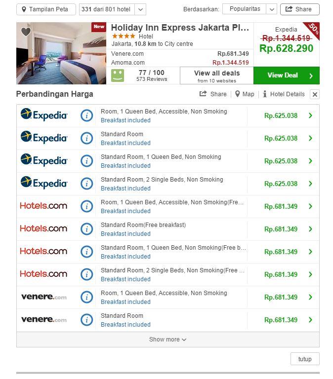 Menjajal Trivago, Situs Perbandingan Tarif Hotel
