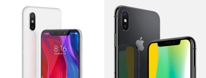 Xiaomi Mi 8 Tiruan Terbaik Apple Iphone X