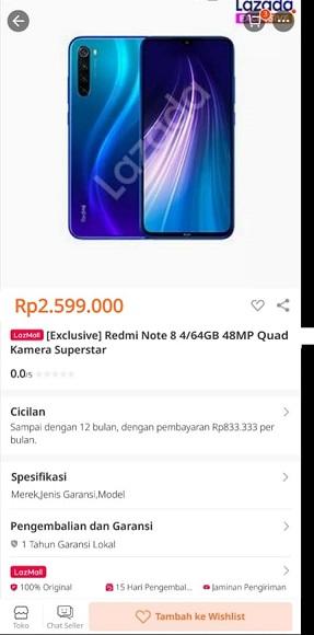 Ecommerce Bocorkan Harga Xiaomi Redmi Note 8?