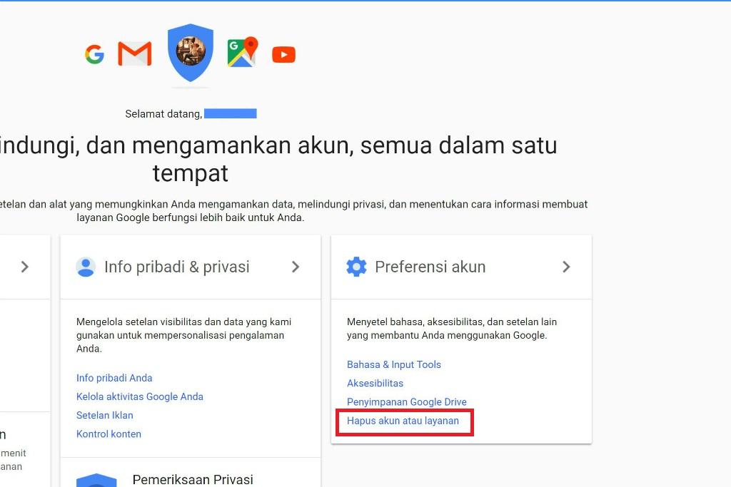 begini cara hapus akun gmail