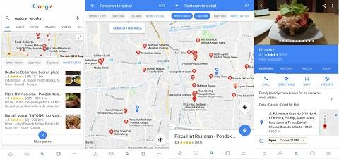 Cara Temukan Restoran untuk Berbuka Puasa via Google