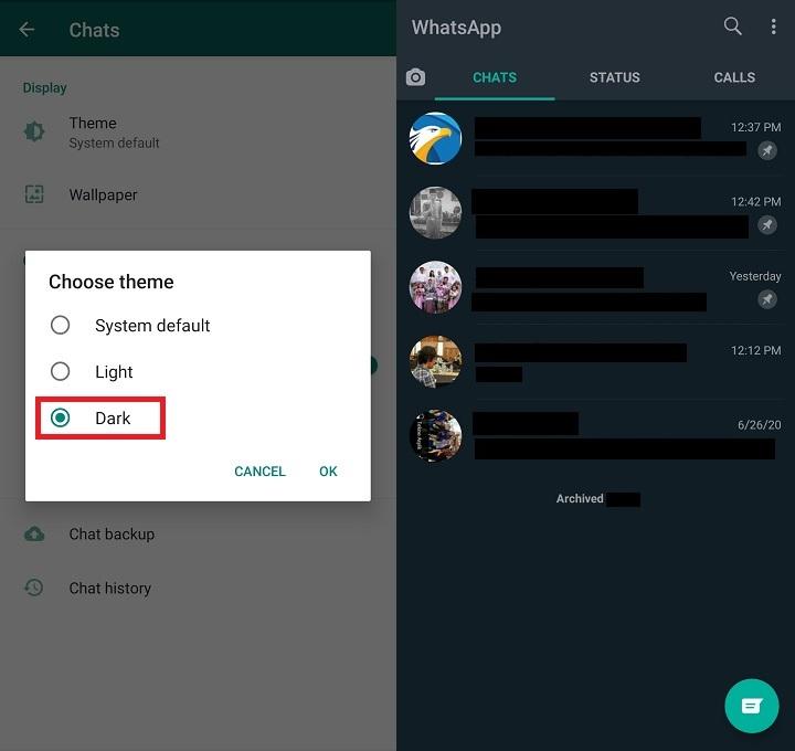 Begini Cara Pakai Dark Mode di WhatsApp