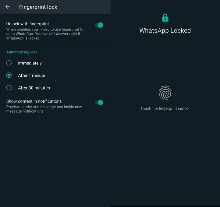 Ini Cara Kunci WhatsApp via Fitur Keamanan Sidik Jari