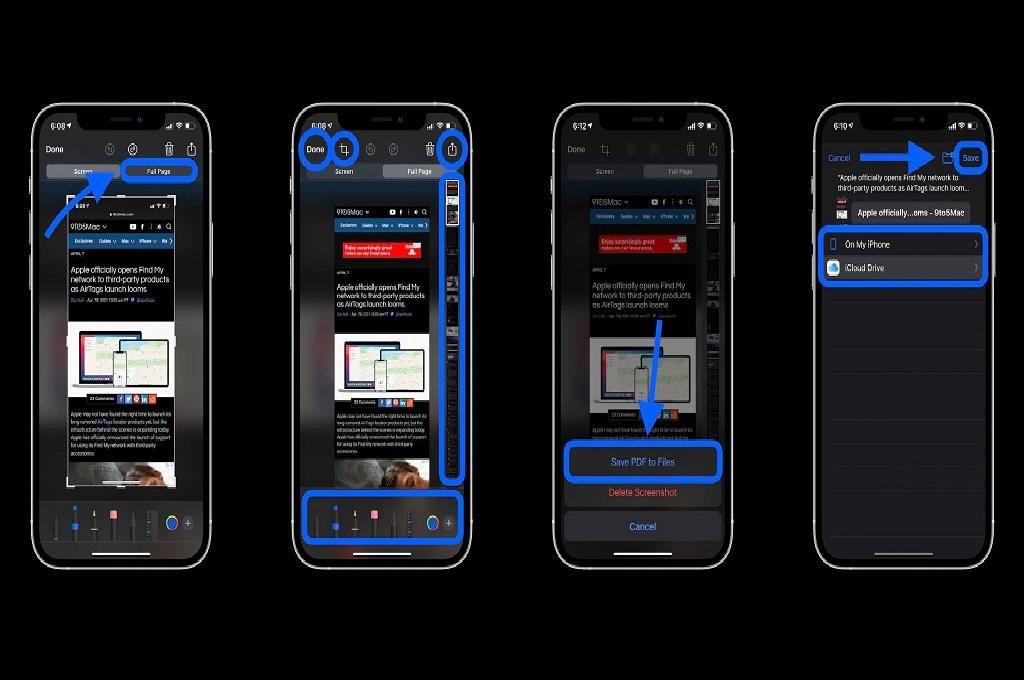 Begini Cara Screenshot Panjang di iPhone