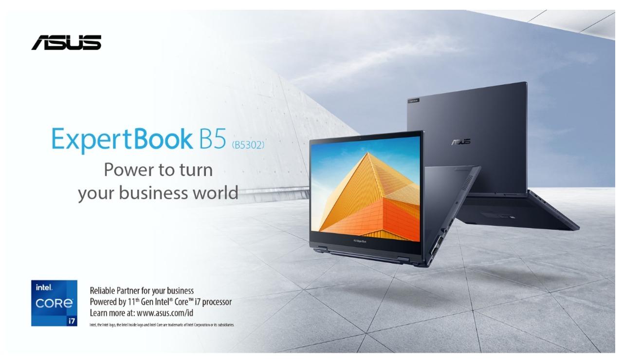 Asus Sediakan Laptop Bisnis Paling Dinamis, ExpertBook B5 Flip