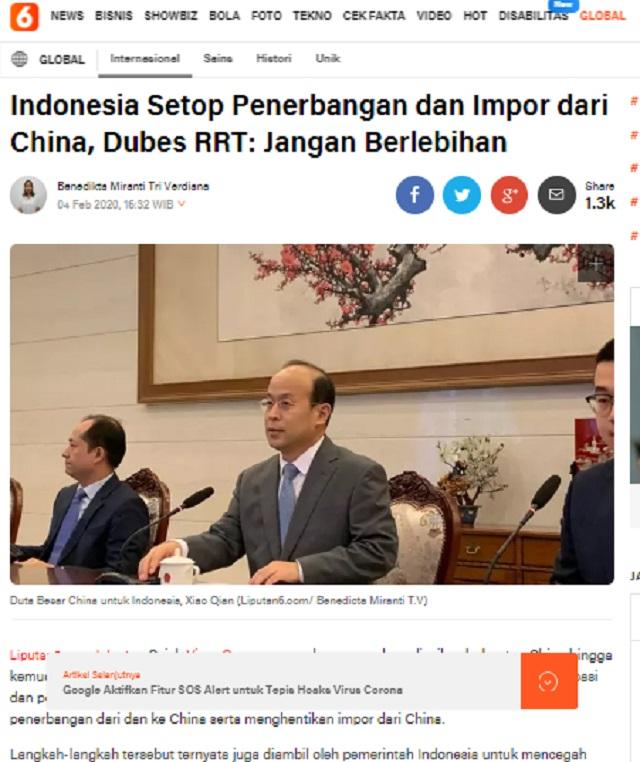 [Cek Fakta] Dubes Tiongkok Buka Kartu, Tiap Tahun 2 Juta Lebih Warga Tiongkok Masuk Indonesia? Ini Faktanya