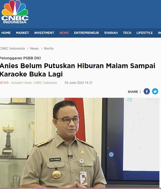 [Cek Fakta] Anies Izinkan Diskotek dan Panti Pijat Kembali Beroperasi? Ini Faktanya