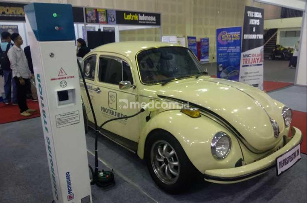 VW Kodok Klasik Tenaga Listrik Mejeng di IEMS 2019