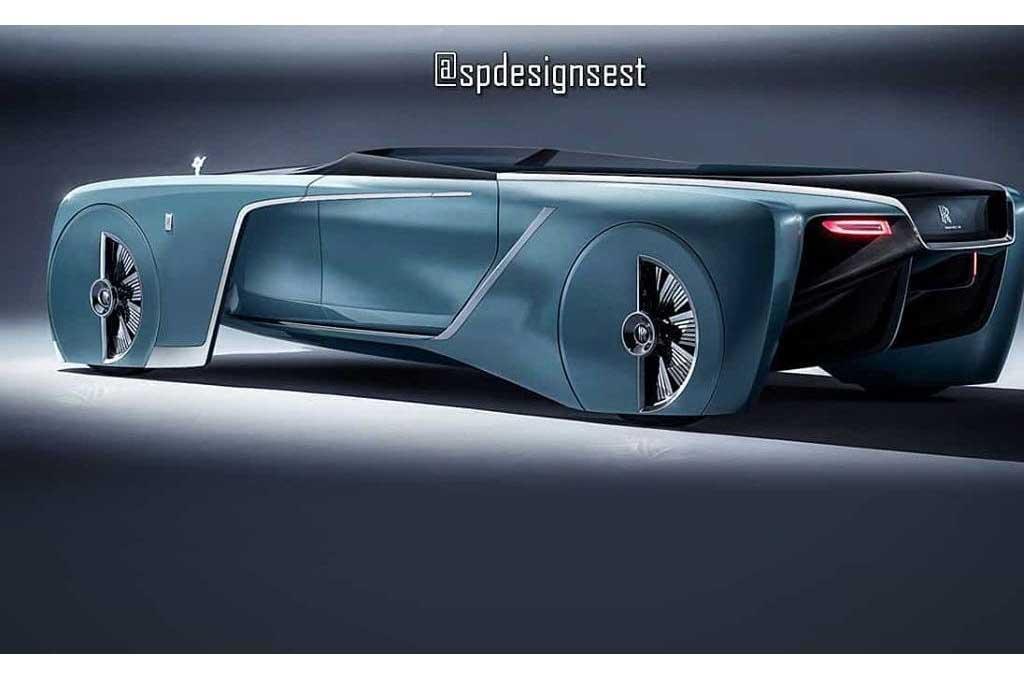 Tampilan Unik Rolls-Royce Vision Next 100 Concept