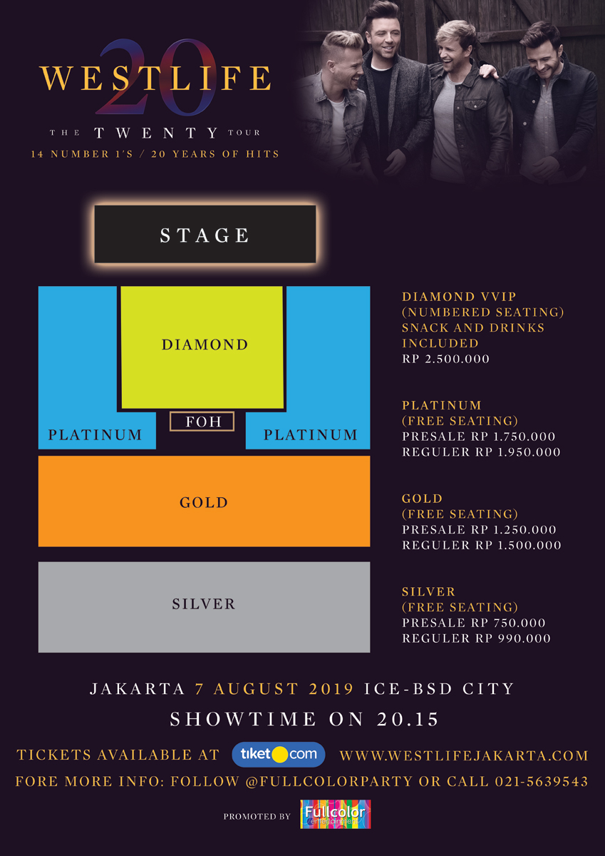 Tiket Termahal Konser Westlife di Indonesia Rp2,5 Juta