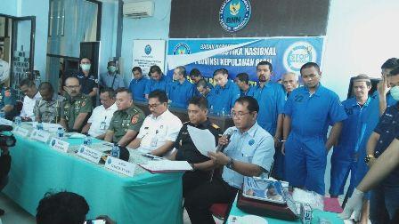 BNN Kepri Musnahkan 39.804 Butir Ekstasi dan 7 Kg Sabu