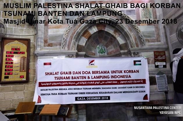 Warga Palestina Gelar Salat Gaib untuk Indonesia