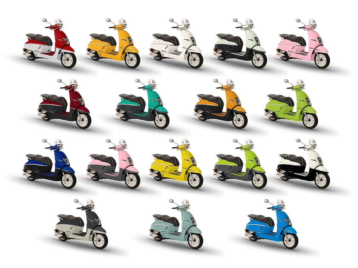 Honda dan Yamaha Lewat, Peugeot Django Rilis 17 Warna Baru