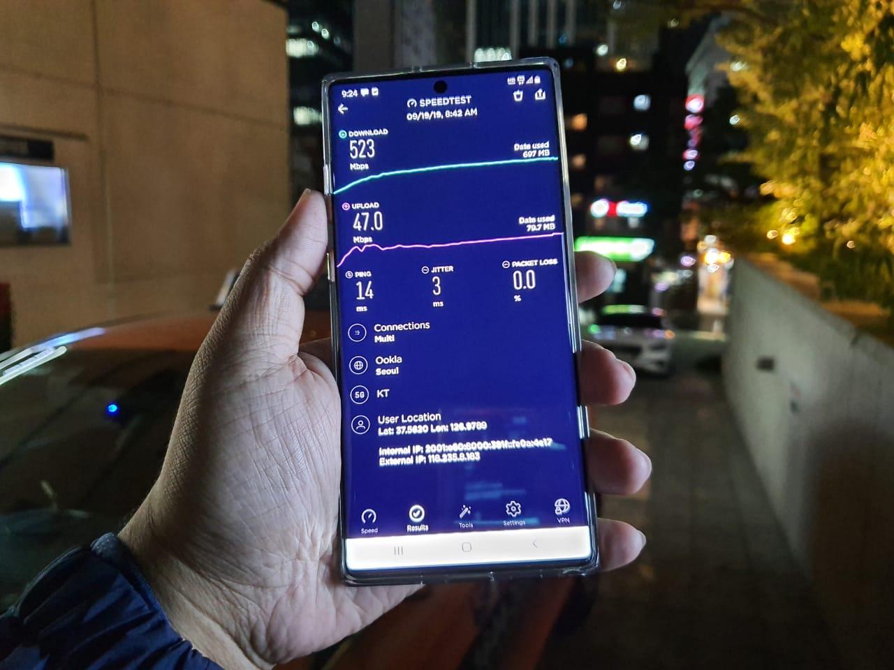 Mencicipi Jaringan 5G via Samsung Galaxy Note 10 di Korsel
