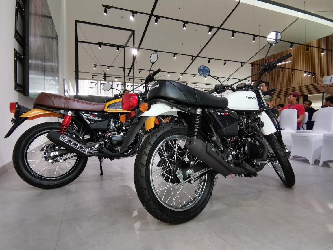 Kawasaki W175 TR dengan Sentuhan Scrambler