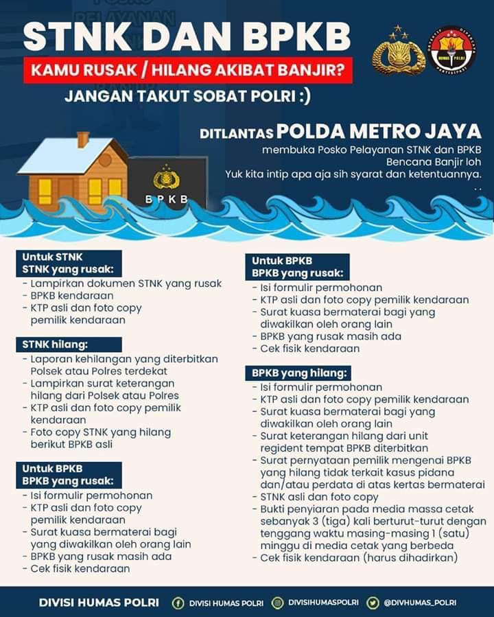 STNK & BPKB Hilang Karena Banjir? Begini Cara Urusnya