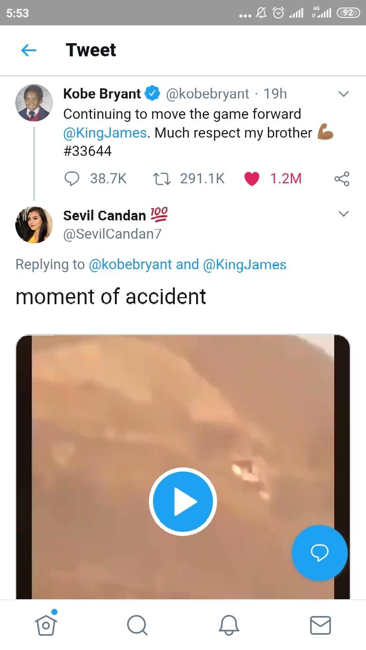 [Cek Fakta] Beredar Video Detik-Detik Jatuhnya Helikopter yang Menewaskan Pebasket Kobe Bryant? Ini Faktanya