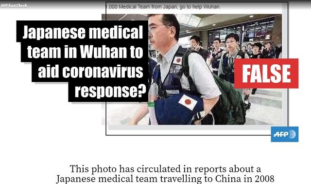 [Cek Fakta] Atasi Virus Korona, Jepang Bantu Tiongkok dengan Mengirimkan 1.000 Tim Medis ke Wuhan? Ini Faktanya