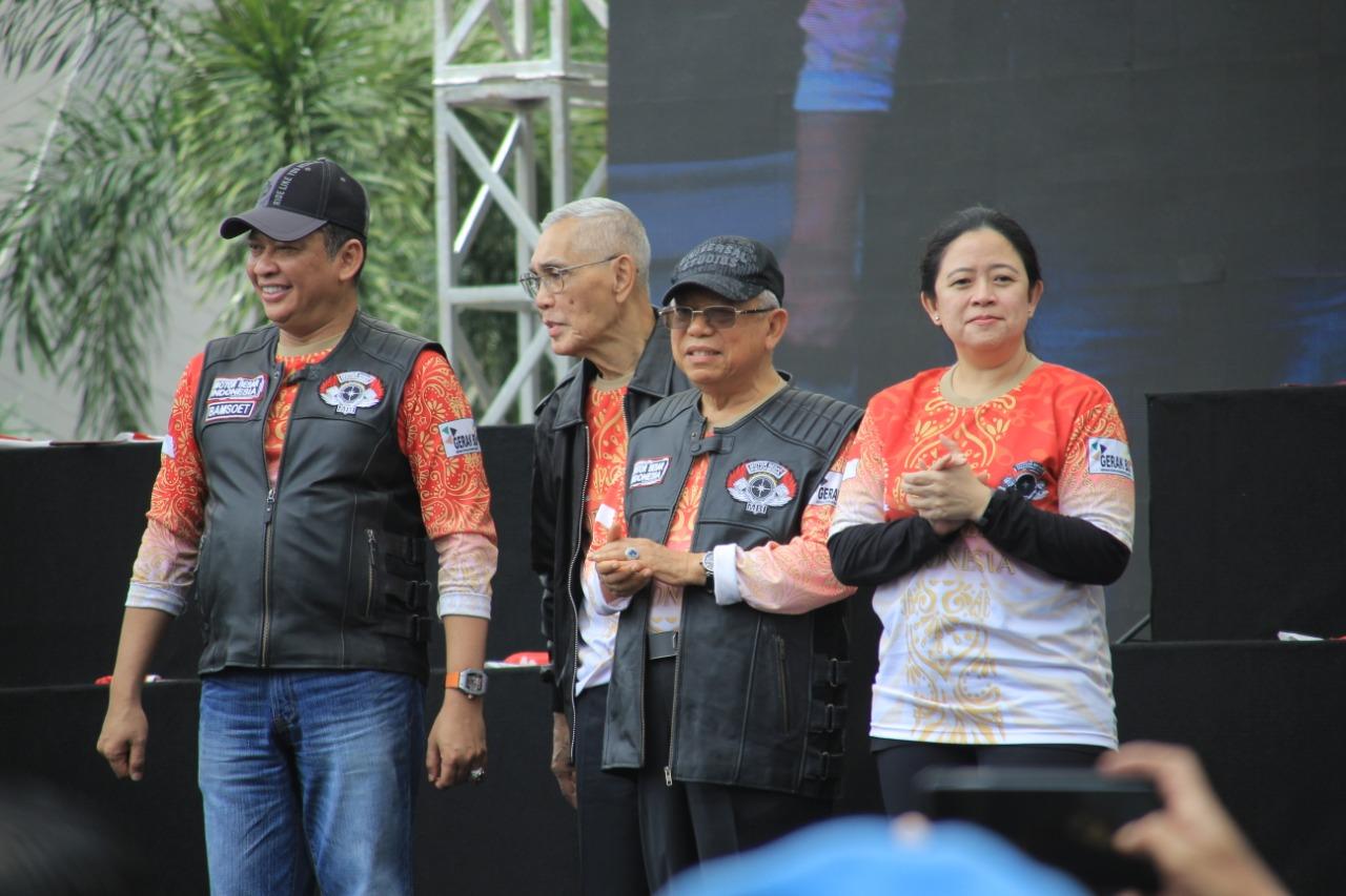 Begini Tampilan Ma'ruf Amin Bergaya Bikers