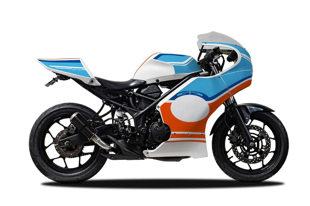 Gaya Sporty Jadul Cafe Racer Yamaha R25