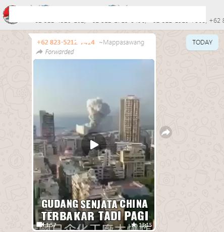 [Cek Fakta] Benarkah Ini Video Ledakan di Gudang Senjata Tiongkok? Simak Faktanya