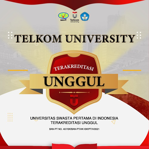 Sertifikat akreditasi unggul Telkom University
