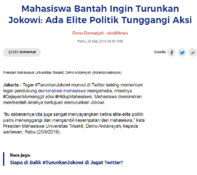 [Cek Fakta] Demo 'Turunkan Jokowi' di Sejumlah Kota tak Diliput Banyak Media? Ini Faktanya